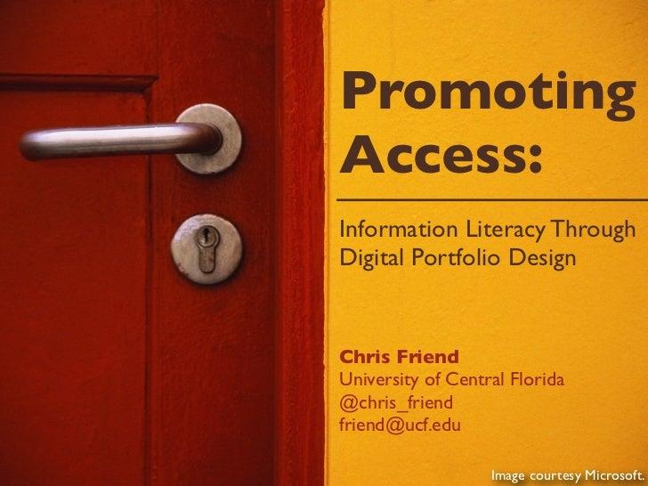Promoting Access Through Digital Portfolio Design