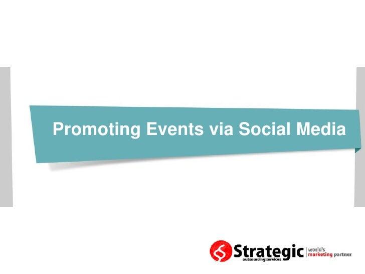 Promoting events via social media