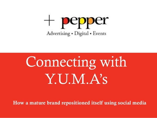 Connecting withY.U.M.A'sHow a mature brand repositioned itself using social media