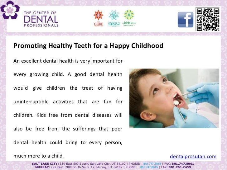 Promoting healthy teeth for a happy childhood