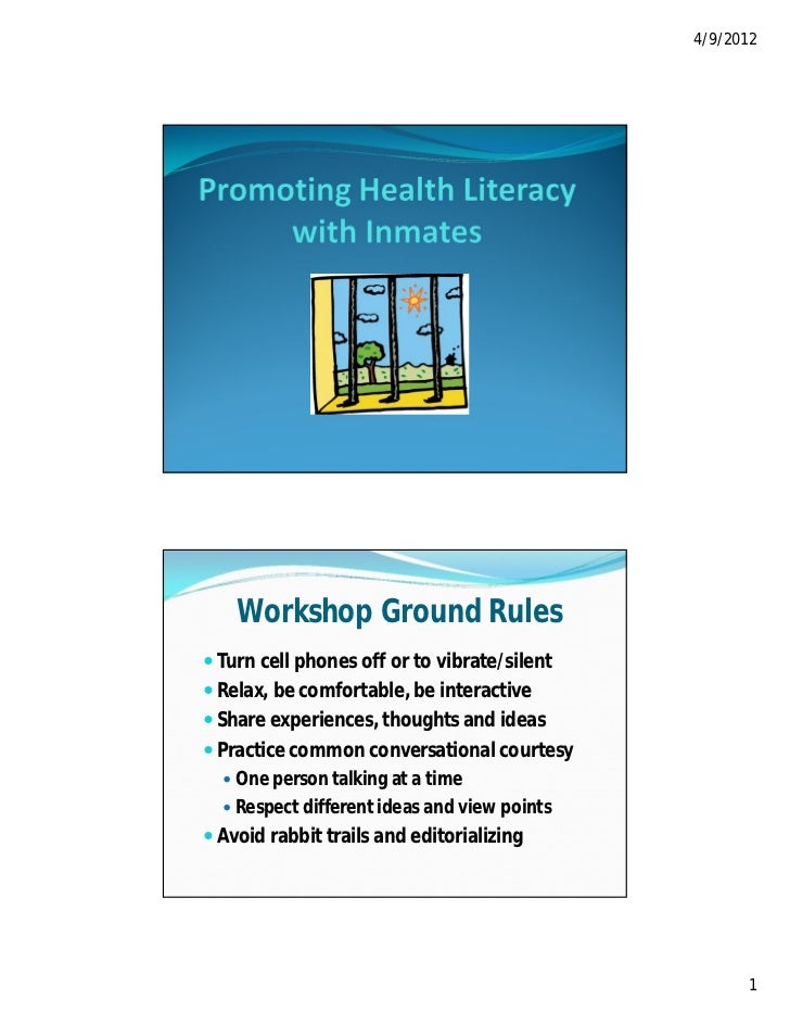 4/9/2012    Workshop Ground Rules Turn cell phones off or to vibrate/silent Relax, be comfortable, be interactive Share...