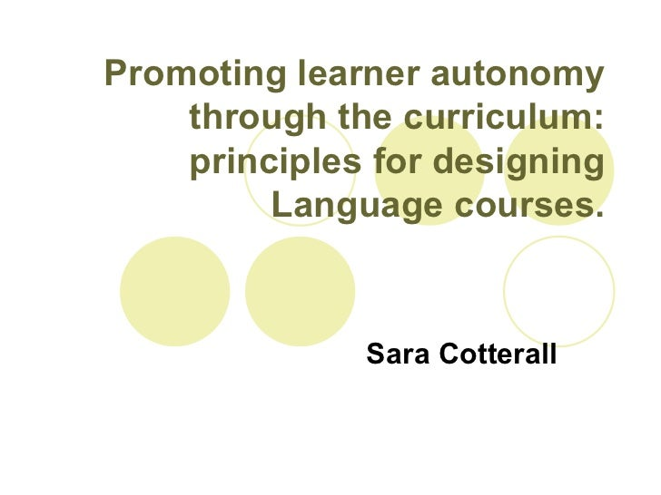Promoting learner autonomy through the curriculum
