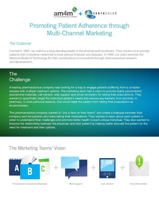 Promoting patient adherence through multi channel marketing