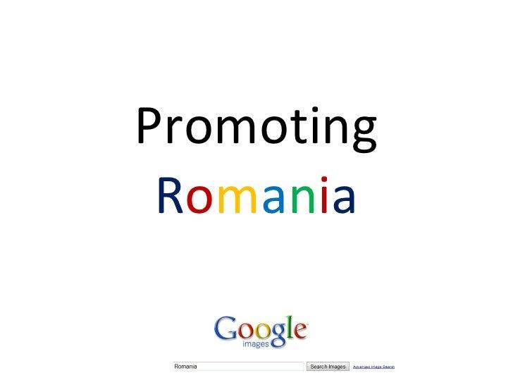 Promoting Romania - the Google Way