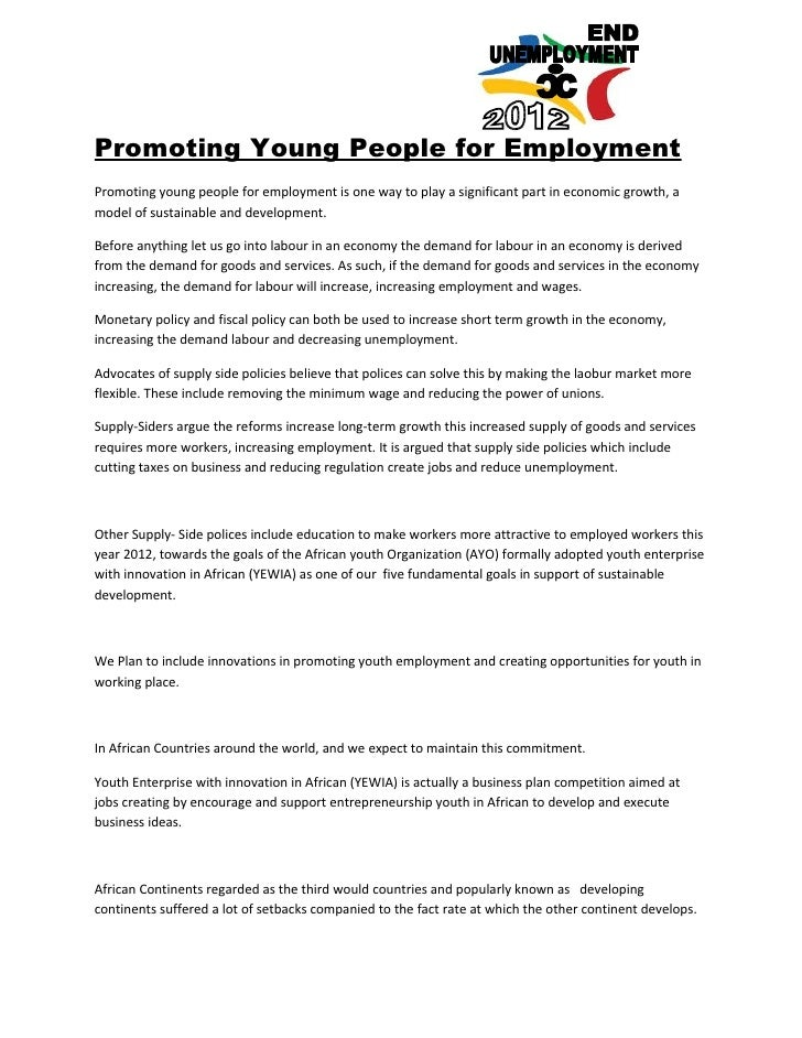 Promoting Young People for EmploymentPromoting young people for employment is one way to play a significant part in econom...