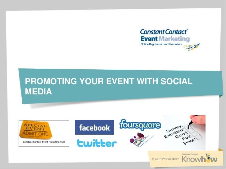 Promoting your event with social media