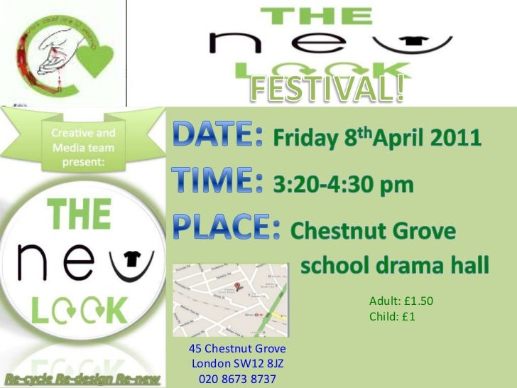 FESTIVAL!<br />DATE: Friday 8thApril 2011 <br />TIME: 3:20-4:30 pm<br />PLACE: Chestnut Grove <br />					school drama hall...