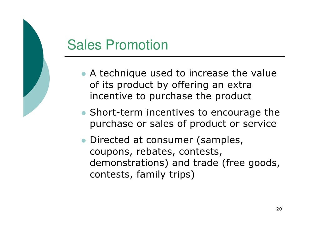 sales promotion techniques in india Child relief and you-cry (india) anthony d'souza the synergos institute voluntary sector financing program case studies of foundation-building.