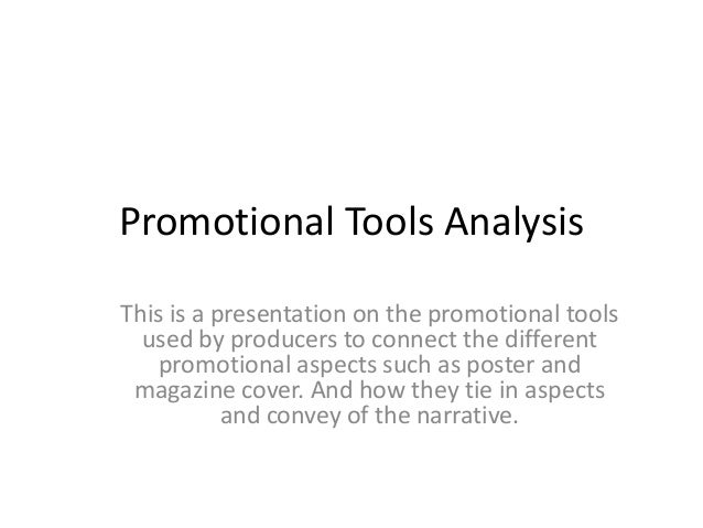 Promotional tools analysis