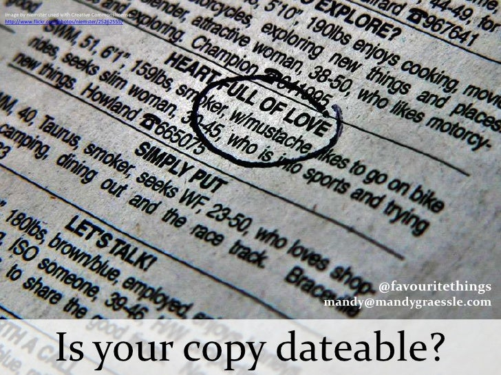 Promotional writing: Is Your Copy Dateable?