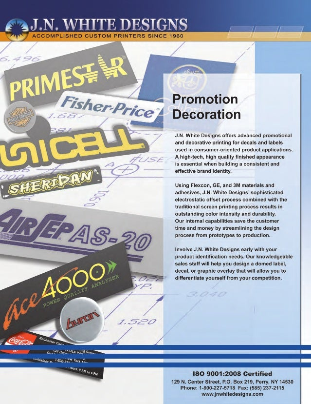 Promotion and Decorative Printing | Decals and Labels