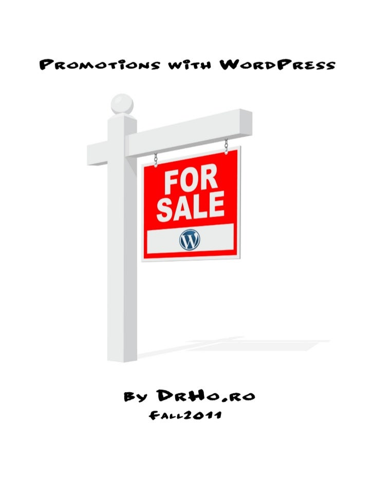 Promotions with WordPress Fall 2011