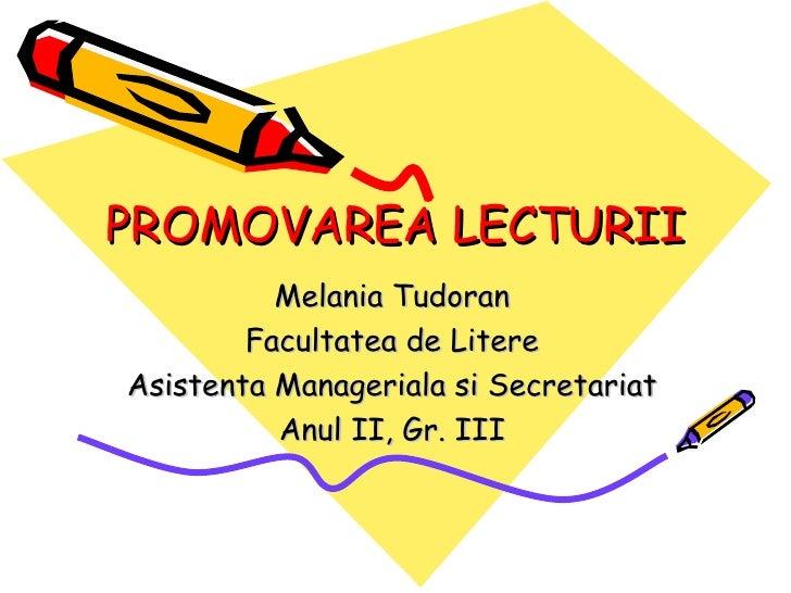 Promovarea lecturii
