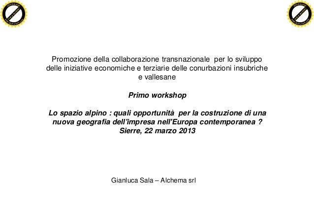 Promozione della collaborazione transnazionale - Gianluca Sala