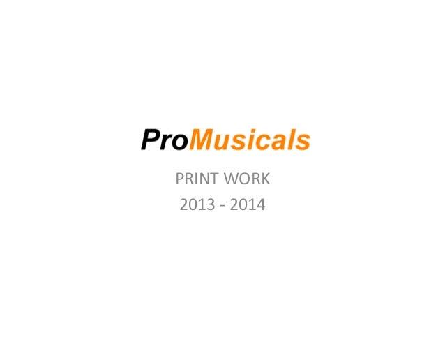 Promusicals print work pdf