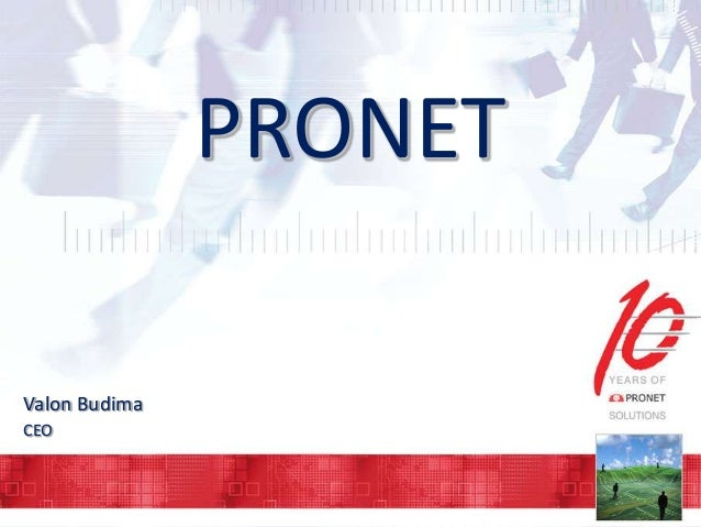 Pronet corporate presentation