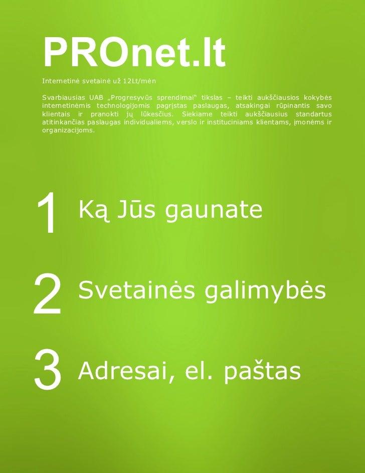 Pronet internetines svetaines