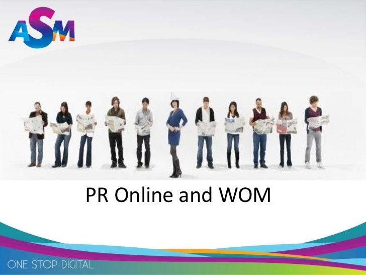 Pr online and wom