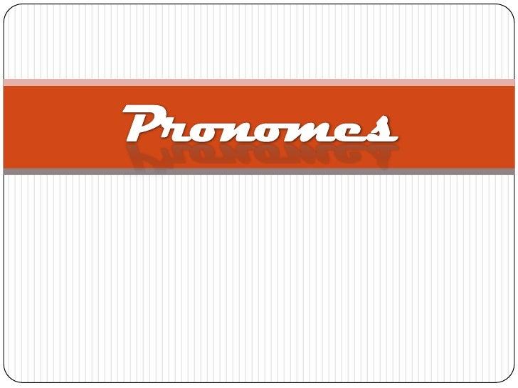 Pronomes<br />