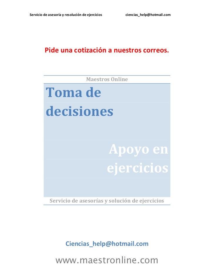 Pronostico para la toma de decisiones cn09005
