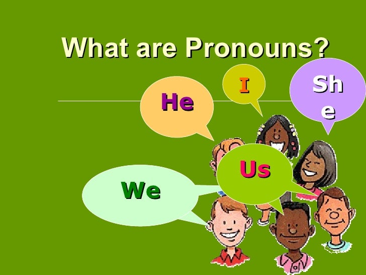 What are Pronouns?           I    Sh      He         e           Us   We   We