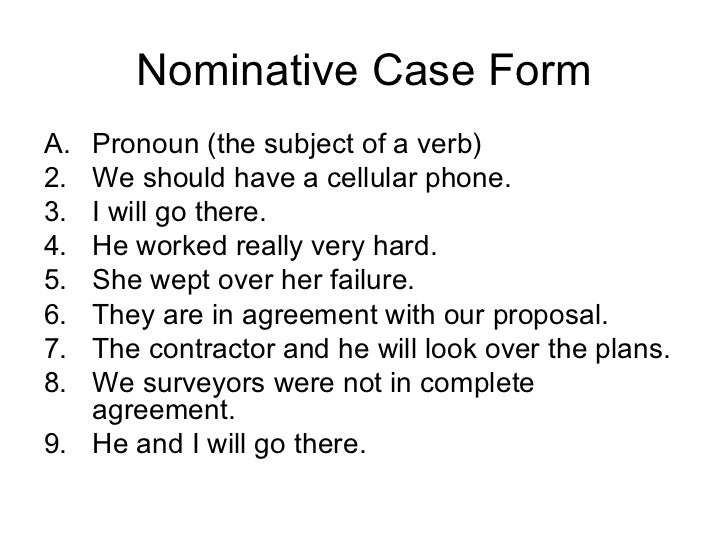 Objective Case Pronoun Object Of The Preposition