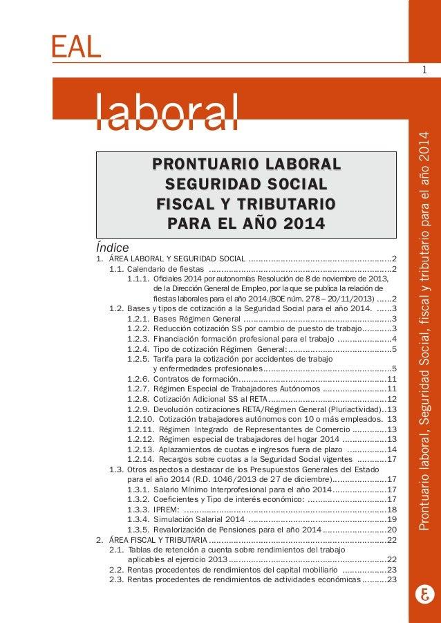 Prontuario Laboral 2014