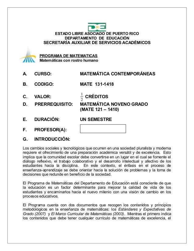 ESTADO LIBRE ASOCIADO DE PUERTO RICO                       DEPARTAMENTO DE EDUCACIÓN            SECRETARÍA AUXILIAR DE SER...