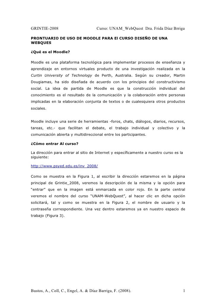 Prontuiario Moodle Web Quest Final