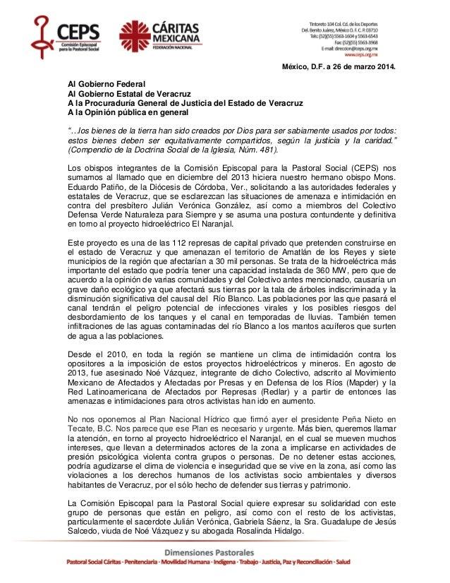 Pronunciamiento de Obispos CEPS- Situación de Veracruz