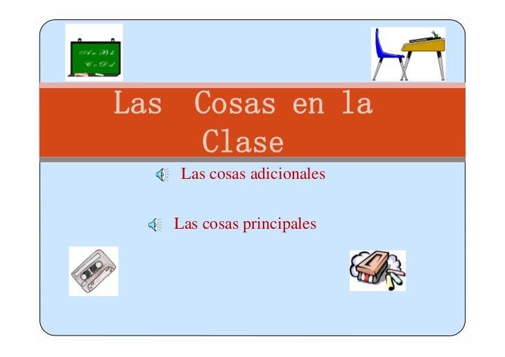 Pronunciation Classroom items