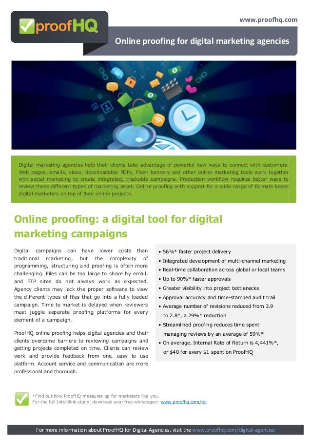 Online proofing for digital marketing agencies