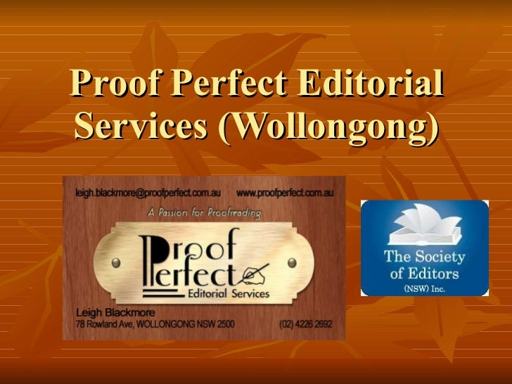 Proof Perfect Editorial Services (Wollongong)