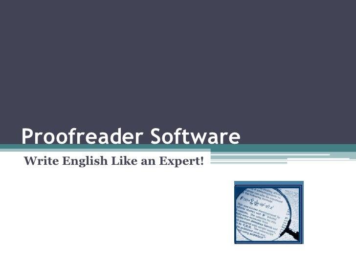 Proofreader software