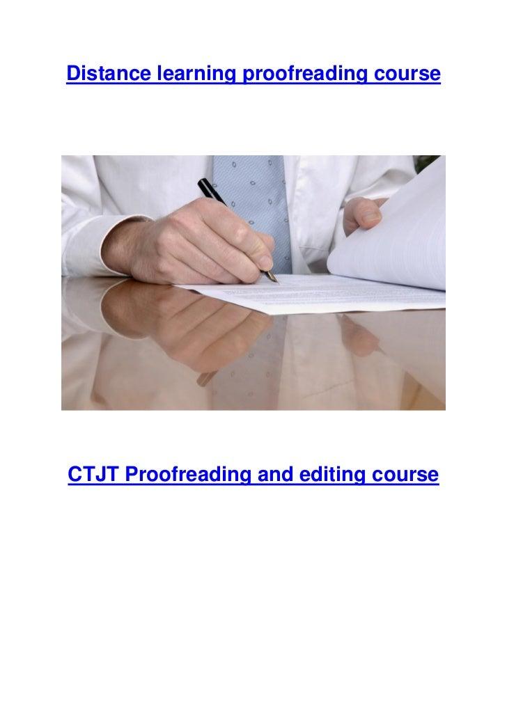 Proofreader career