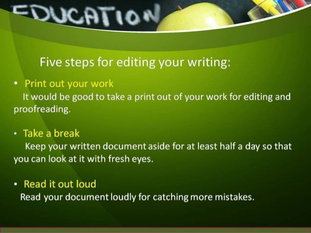Online editing service