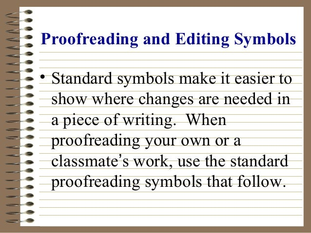 Writing editing marks