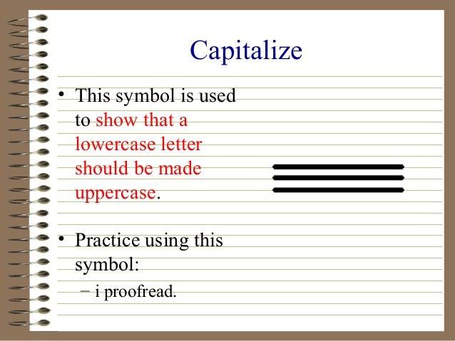 Editing symbol