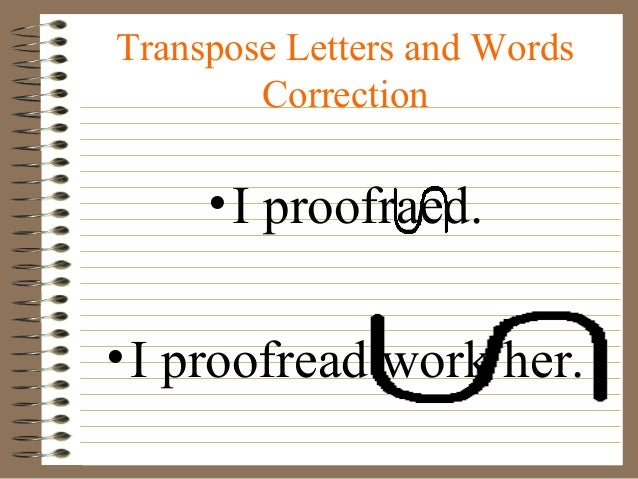 Transpose symbol