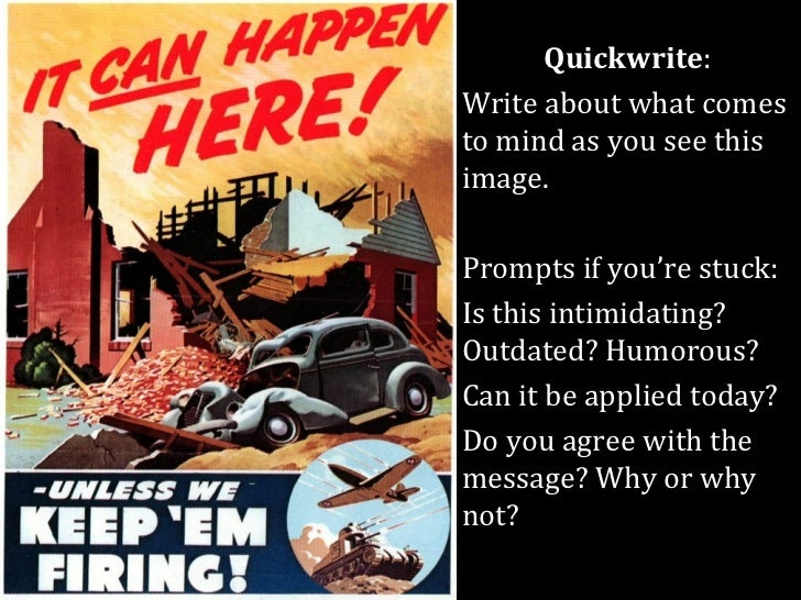 Quickwrite:Write about what comesto mind as you see thisimage.Prompts if you're stuck:Is this intimidating?Outdated? Humor...