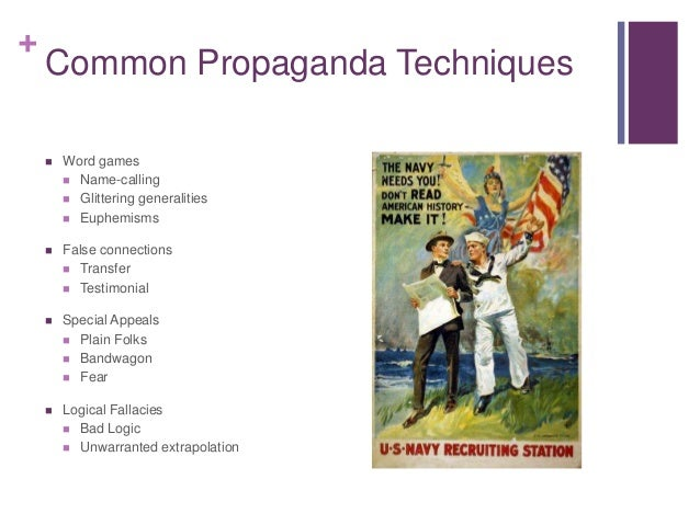 essays on propaganda techniques Essays - largest database of quality sample essays and research papers on examples of propaganda articles.