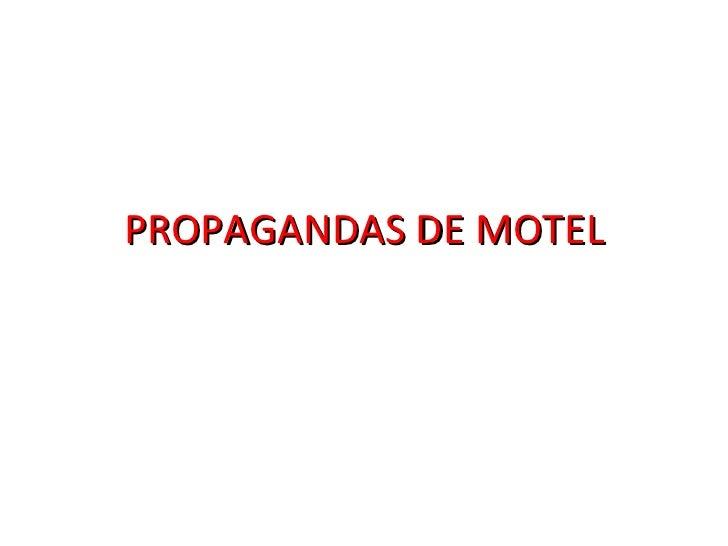 PROPAGANDAS DE MOTEL