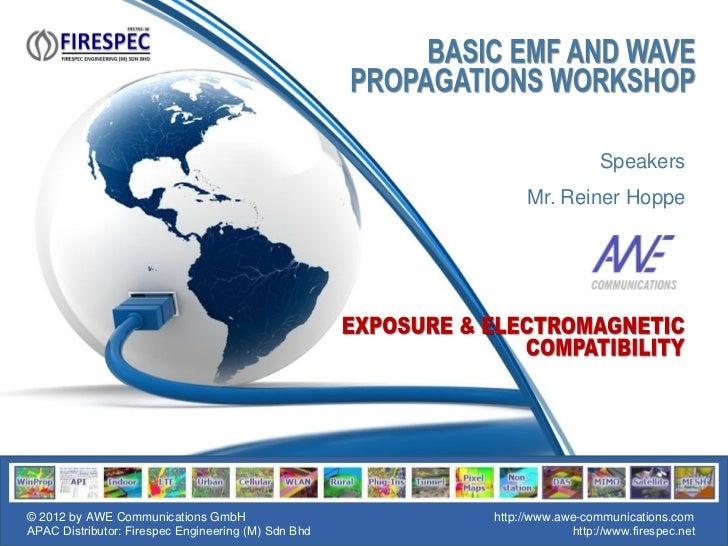 Speakers                                                          Mr. Reiner Hoppe© 2012 by AWE Communications GmbH       ...