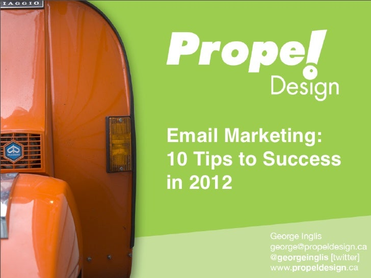 Email Marketing:10 Tips to Successin 2012