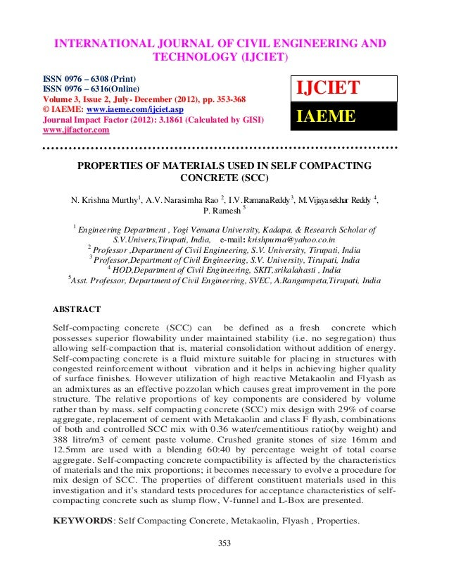International Journal of Civil EngineeringOF CIVIL ENGINEERING AND  INTERNATIONAL JOURNAL and Technology (IJCIET), ISSN 09...
