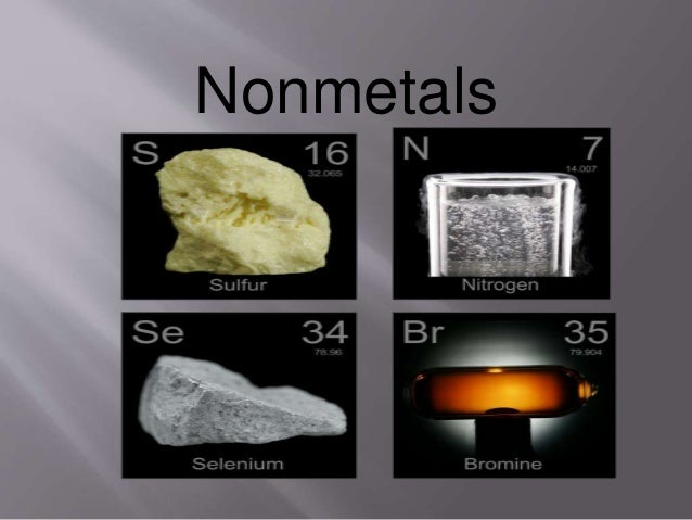Nonmetals Are What At Room Temperature