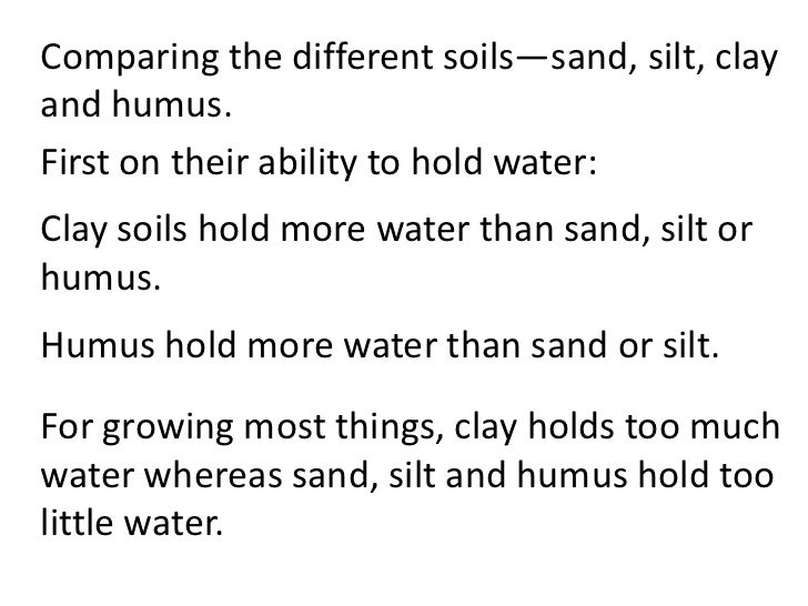 characteristics of different types of soil pdf