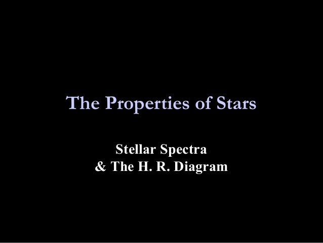 The Properties of Stars Stellar Spectra & The H. R. Diagram