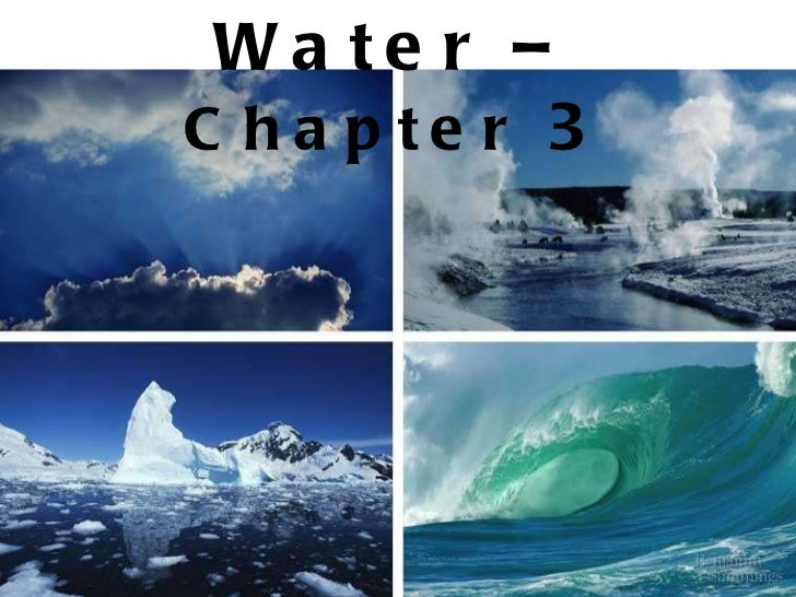 Water –  Chapter  3