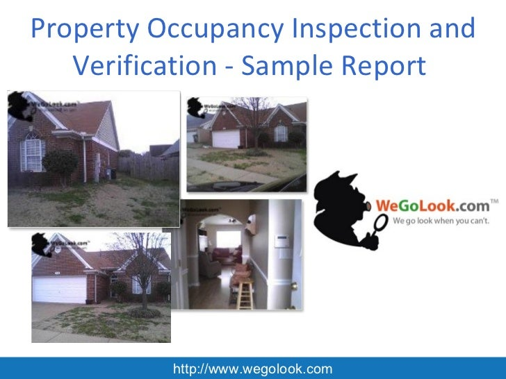 Property Occupancy Inspection and Verification - Sample Report